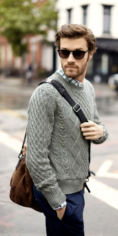 mens-wardrobe-essential-gray-wool-sweater